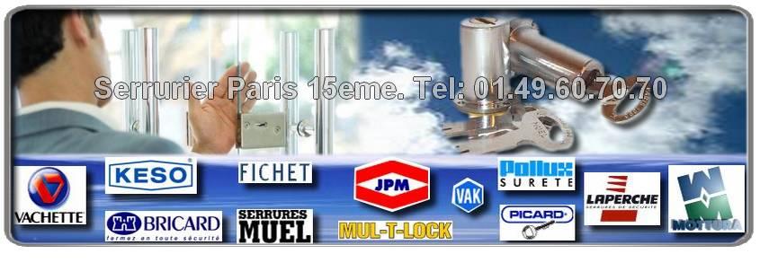 Artisan Serrurier 75015, Fichet, Mul-t-lock, Vachette, Dom, Vak, Muel, Reelax. Entreprise Agréée Paris 15 eme.
