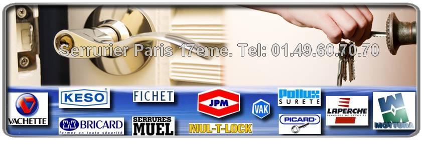 Afin de satisfaire toute notre clientèle ,notre artisan serrurier  de Paris 17 utilise du matériel de qualité. C'est pourquoi,notre entreprise de serrurerie se fournit  chez les plus grandes marques de serrurerie comme Picard, MUL-T-LOCK, Vachette, JPM, Heracles etc