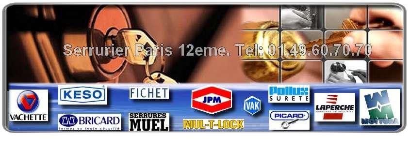 Artisan Serrurier Paris 12 ème spécialiste des grandes marques agréés de la serrurerie : Reelax, JPM, Dom, Muel, Vak, Picard, Bricard, Mottura, Mul-t-lock, Vachette, Fichet