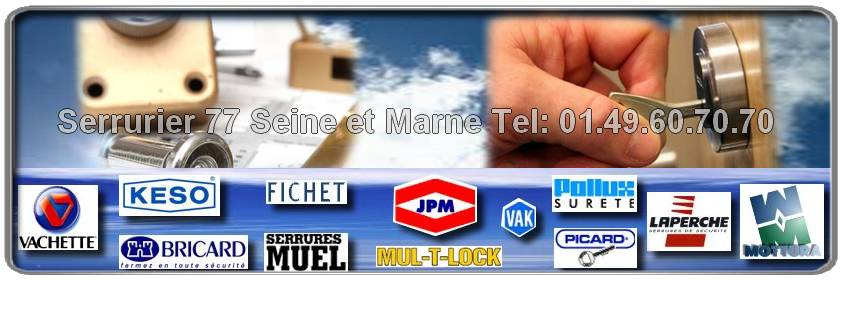 Votre Serrurier pas cher en Seine et Marne intervient en 30 minutes, spécialiste des marques: Vachette, Picard, Fichet, Pollux