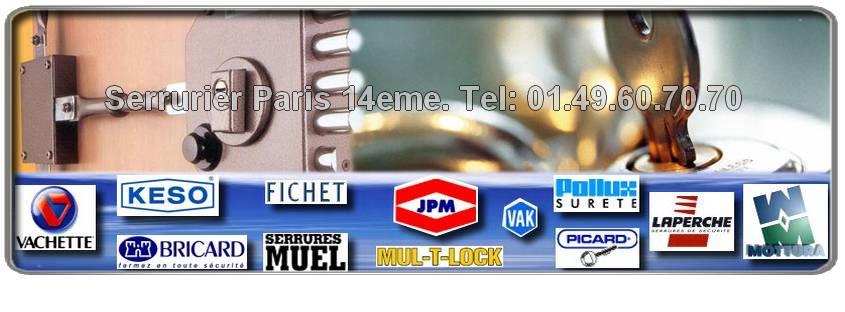 Disponibles 7 jours/7, sur Paris 14 et ses environs, notre équipe intervient avec une très grande rapidité pour réparer et/ou poser du matériel haut de gamme et garanti. Sos Serrurier Paris 14 est agrée des marque Picard, Vachette, Muel, Reelax, JPM, Mottura, Fichet , Bricard, Mul-t-lock, Dom, Vak etc. Notre entreprise de serrurerie du 75014 vous offre un Devis Gratuit.