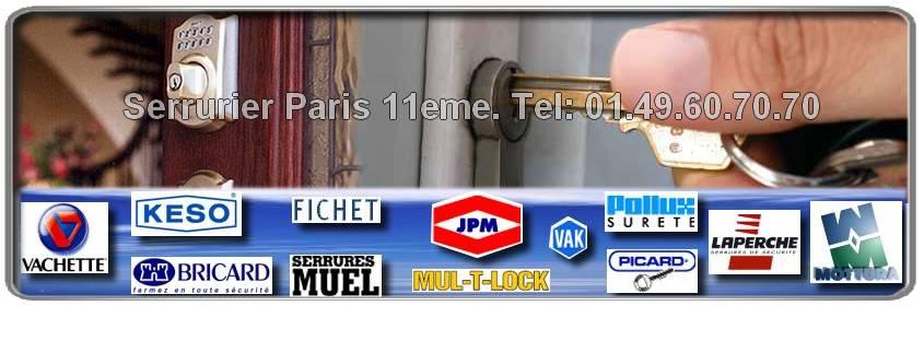 Dépannage de serrurerie à Paris 11: Notre entreprise de serrurerie est agréée Mul-t-lock, Vachette, Fichet, Picard, Bricard, Mottura,  Reelax, JPM, Dom, Muel, Vak dans le 75011