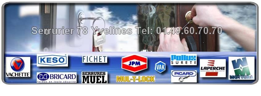 Notre entreprise du 78 entreprend tous vos travaux de serrurerie pour les marques MUL-T-LOCK, Vachette, Pollux, Muel. Un serrurier pas cher vous dépanne 7j/7.