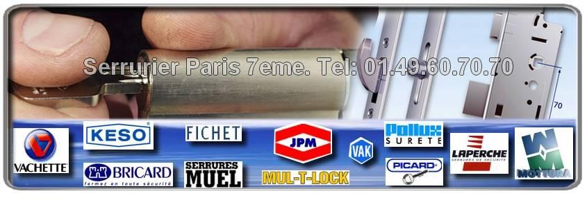 Des serruriers dans Paris 7 Mottura, MUL-T-LOCK, Muel, VAK, Bricard