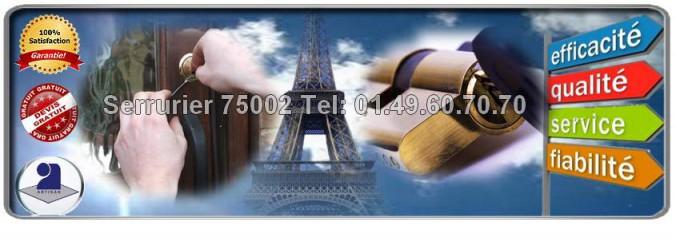 Ouvertures de Portes Claquées ou Fermées dans paris 2, ouverture de portes 75002, ouverture de porte paris 2 eme
