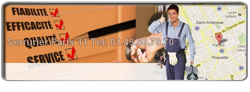 Vous avez claqué votre porte ? Vous désirez changer et plus sécuriser votre serrure ? Appelez serrurier 75011 au  01.49.60.70.70