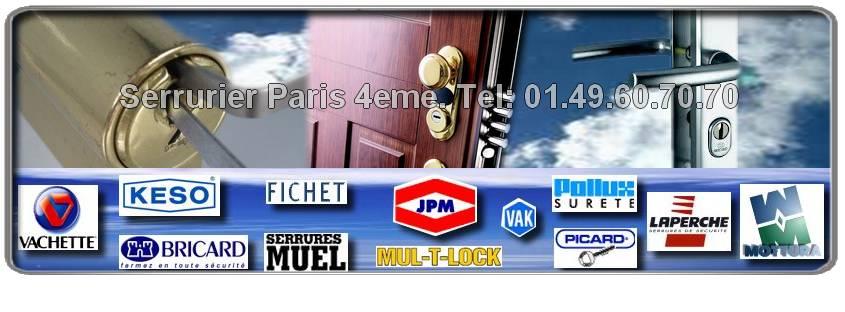 Serrurier Paris 4 ème spécialisé des marques Bricard, JPM, Vachette, Dom, Vak, Muel, Reelax, Picard, Mottura, Fichet, Mul-t-lock nous sommes agrées dans le 75004 paris