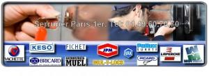 Notre artisan serrurier est agrée, il est à votre service sur Paris 75001, il dépanne et pose les serrures des plus grandes marques comme Picard, Bricard, Muel, Vak, Fichet, Reelax, Mul-t-lock, Vachette, Dom, JPM, Mottura.