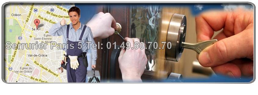Vous recherchez un serrurier efficace pour ouvrir votre porte claquée par accident sur Paris 5eme rapidement? Appelez-nous au 01.49.60.70.70