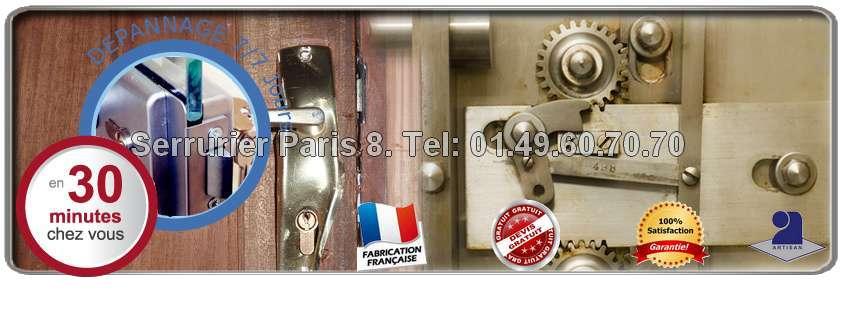 Avec Serrurier Paris 8 vous n'avancez aucun frais lors du passage de notre serrurier car nous établissons un devis gratuit et à vous de décider si vous l'acceptez ou pas!