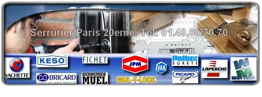 Urgence serrurier Paris 20 met à votre disposition des artisans agrees et expérimentés sur Paris 75020. Ils réparent et/ou installent du matériel de serrurerie (cylindres, serrures, blindages de porte…)  Heracles, MUL-T-LOCK, VAK, Picard, Pollux, Fichet, Mottura, Muel.